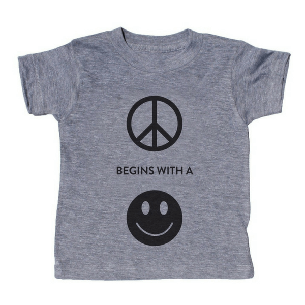Peace Begins With a Smile T-Shirt - Sugarboo and Co