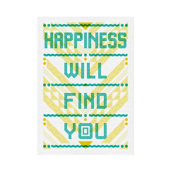 Happiness Will Find You - Postcard - Sugarboo and Co