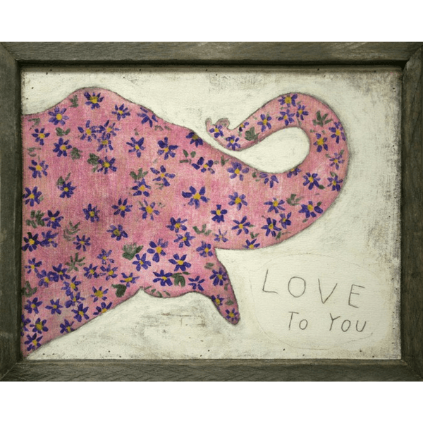 Pink elephant - Love to you - Sugarboo and Co Art Print
