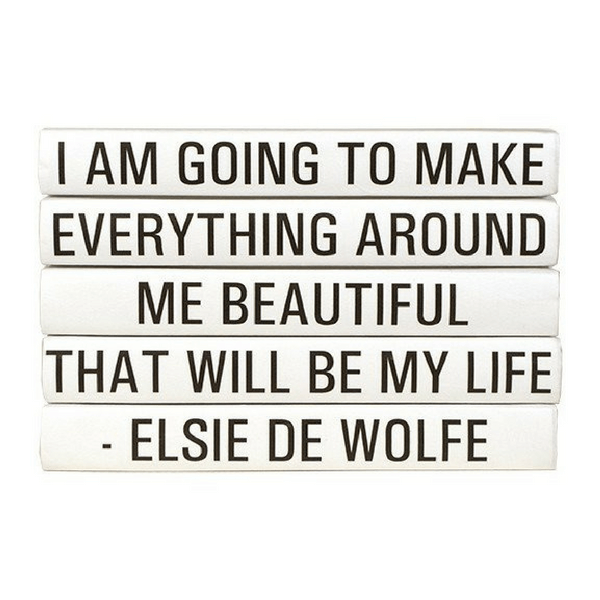 Elsie De Wolfe Book Quotation Stack - Sugarboo and Co