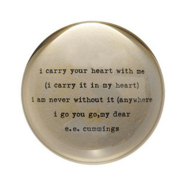 I Carry Your Heart - Paperweight - Sugarboo and Co