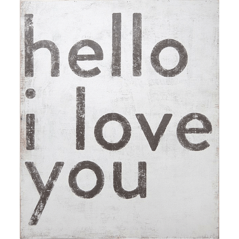 Hello I Love You Art Print - Sugarboo and Co