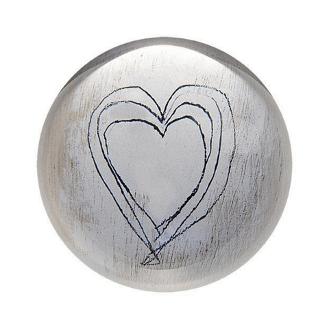 White Heart Paperweight - Sugarboo and Co