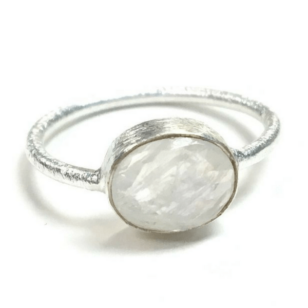 Oval Moonstone Ring - Sugarboo and Co