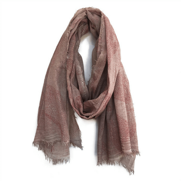 Red Paisley Scarf - Sugarboo and Co