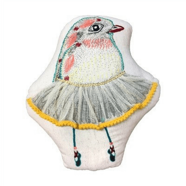 Large Dancing Bird Pillow - Sugarboo and Co