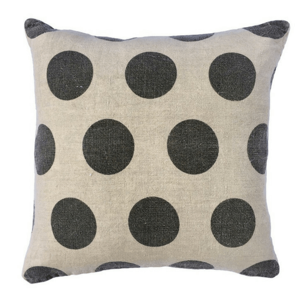 Polka Dot Pillow - Stonewashed Linen - Sugarboo and Co