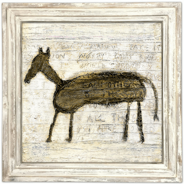Horse Art Print - Sugarboo and Co - White Wash Frame