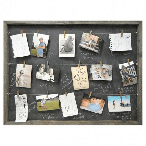 Chalkboard Photo Memory Board - Sugarboo and Co