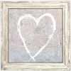 White Heart Art Print - Sugarboo and Co - White Wash Frame
