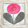 Happy Flower Art Print - White Wash frame - Sugarboo and CO