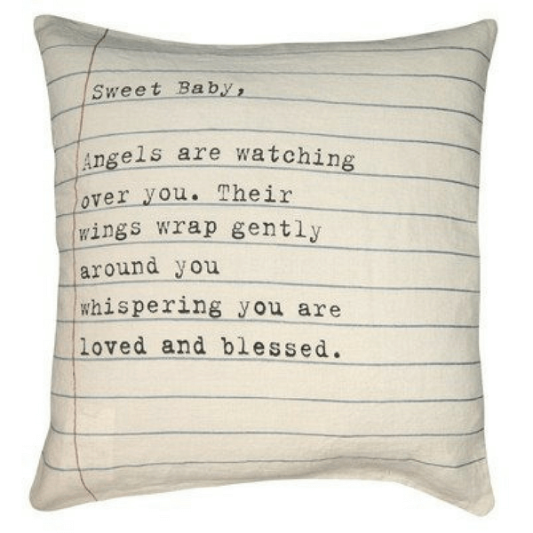 Sweet Baby Letter Pillow - sugarboo and co
