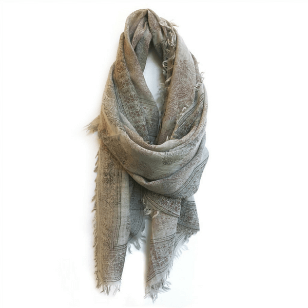 Slate Paisley Scarf - Sugarboo and Co