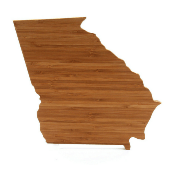 Georgia-Shaped Bamboo Cutting Board - Sugarboo and Co
