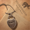 "Sterling Silver ""Always"" Heart Necklace - Sugarboo and Co"