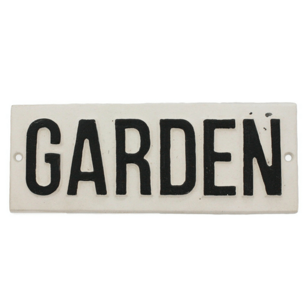 "Cast Iron ""Garden"" Sign - Sugarboo and Co"