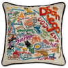 Hand-Embroidered Pillow - San Diego - Sugarboo and Co