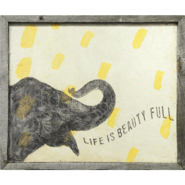 Smart Elephant - Life is Beauty Full - Sugarboo and Co Art Print