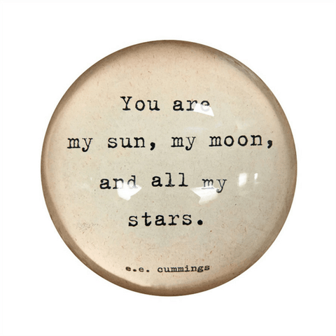 Paperweight - My Sun, My Moon, and All My Stars  - Sugarboo and Co