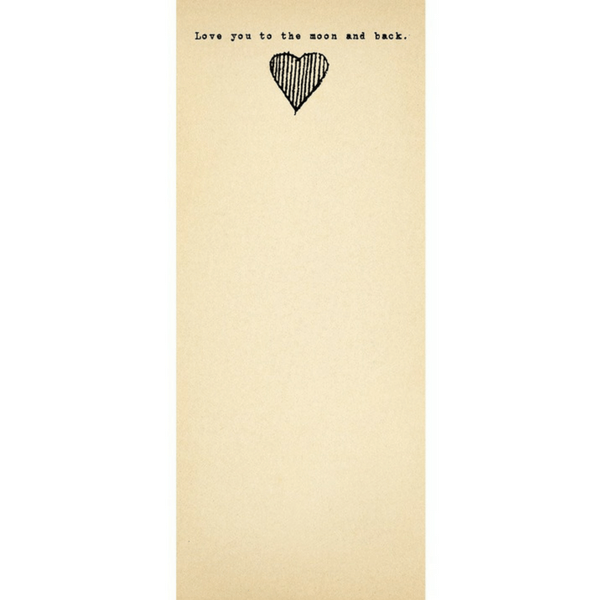 Love you to the moon and back - skinny notepad - Sugarboo and Co