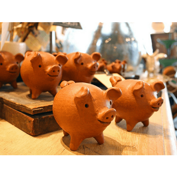 Chilean Three Legged Good Luck Pig Two Sizes Sugarboo Amp Co