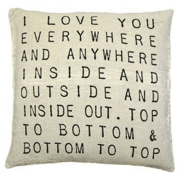 I Love You Everywhere Pillow - Sugarboo and Co