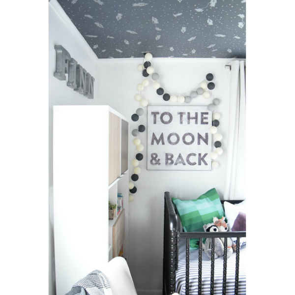 to the moon and back nursery - nesting with grace