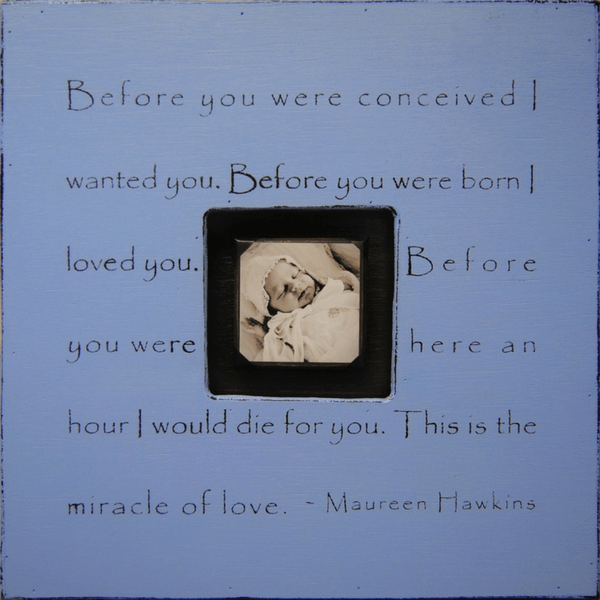 Before you were conceived photobox - Sugarboo and Co - French Blue
