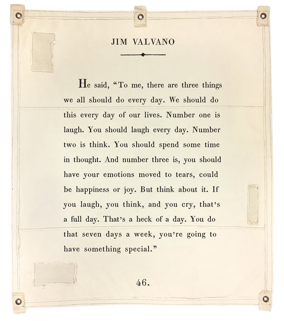 Wall Tarp - Jim Valvano