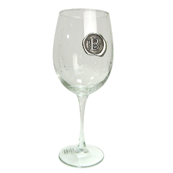 Pewter Initial Wine Glass (Set of 4)