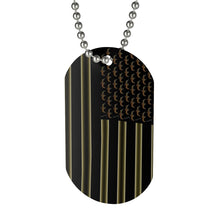 Load image into Gallery viewer, Gold American Flag Dog Tag