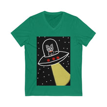 Load image into Gallery viewer, Pomeranian in a Space Ship T-Shirt