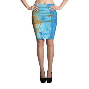 Women's Sun Splash Pencil Skirt