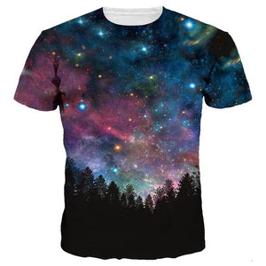 Unisex 3D Space Galaxy T-shirt Stars Night Quick Dry