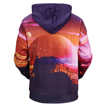 Load image into Gallery viewer, Unisex 3D Distant Planet Landscape Hoodie Sweatshirt