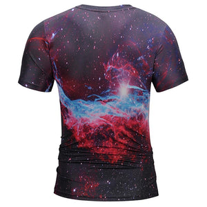 Men's Outer Space Pizza dog T-Shirt