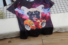 Load image into Gallery viewer, Men's Outer Space Pizza dog T-Shirt