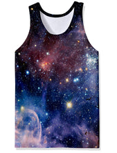 Load image into Gallery viewer, Men's 3D Galaxy Bodybuilding Tank Top