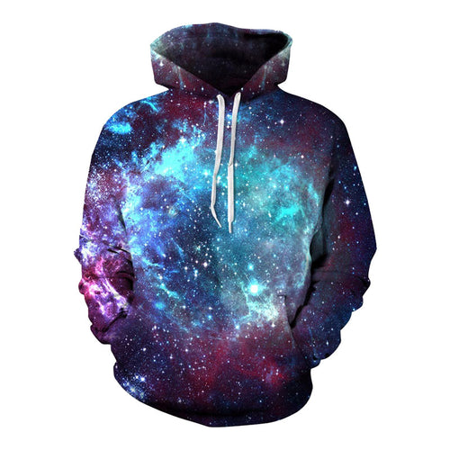 Men's 3DWhirlpool Galaxy Sweatshirt Hoodie
