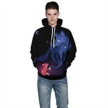 Load image into Gallery viewer, Unisex Outer Space Star Cloud Fox 3D printed Hoodie