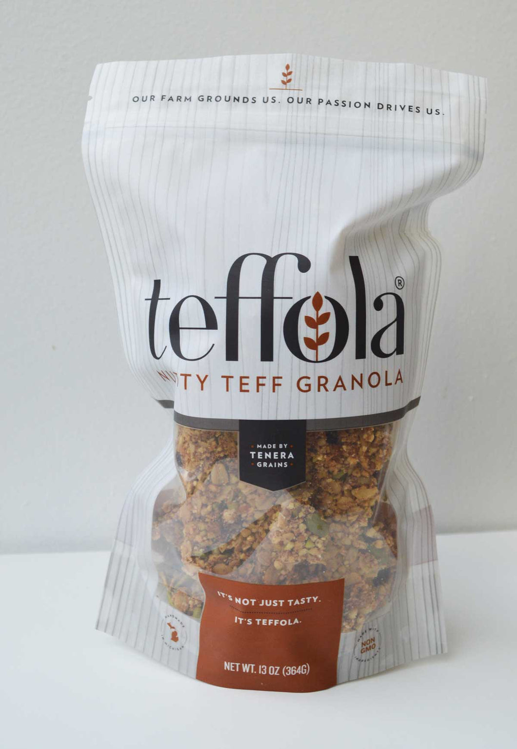 teff granola or vegan Teffola made by Tenera Grains