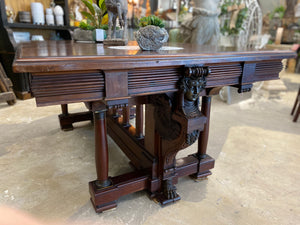 Antique Egyptian Revival Library Table