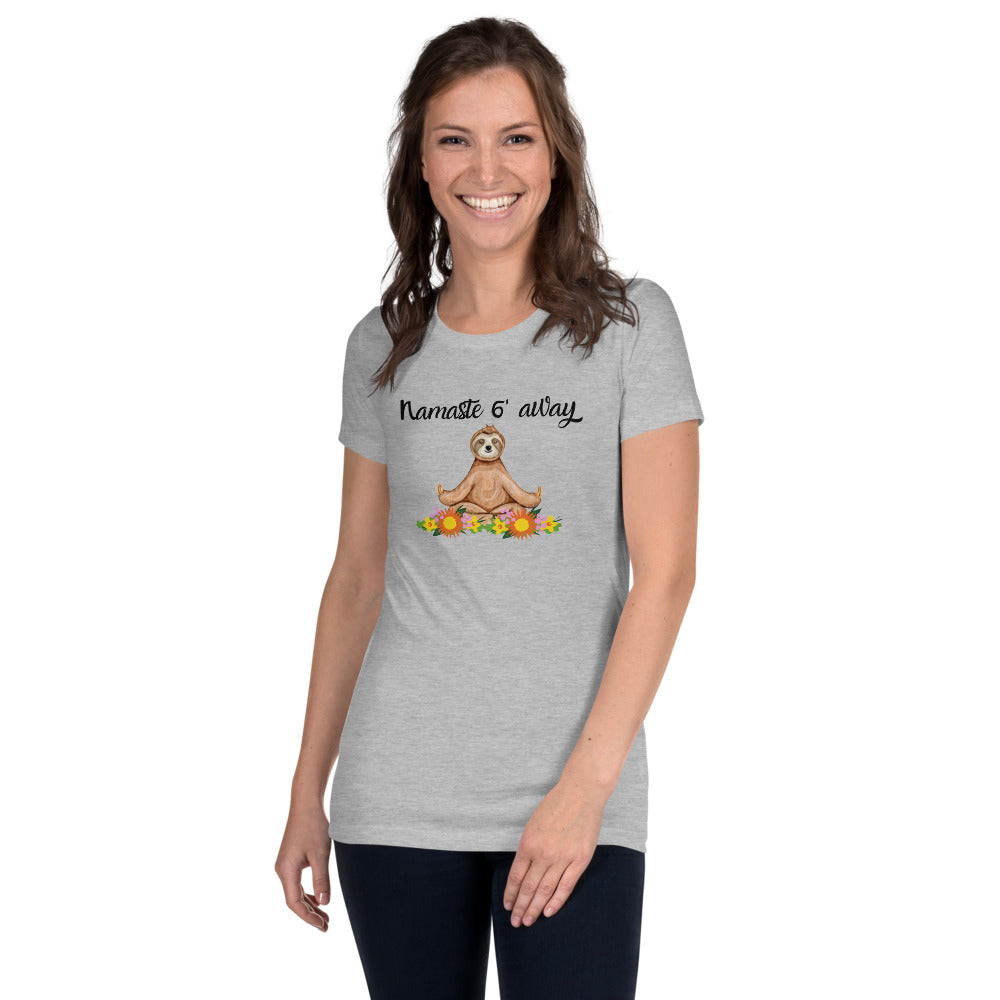 Namaste 6' Away Women's Slim Fit T-Shirt
