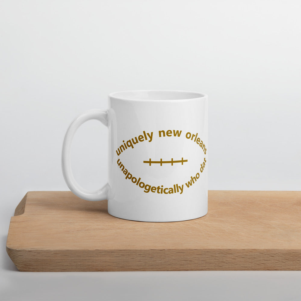 Uniquely New Orleans Football Mug