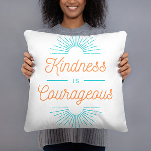 Kindness is Courageous throw pillow
