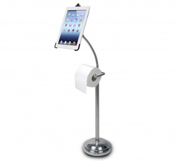 ipad toilet roll holder