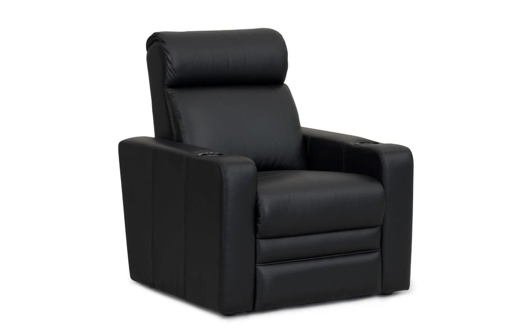RowOne Home Theatre Seating Ambassador Range Armless Recliner 100% Leather