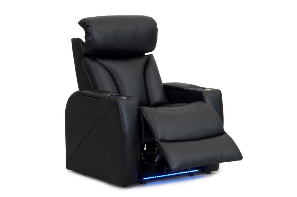 RowOne Home Theatre Seating Carmel Range Right Arm Recliner Split Leather Combination