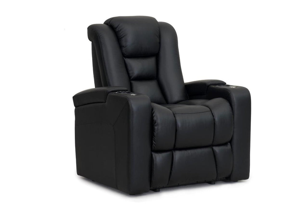 RowOne Home Theatre Seating Evolution Range Armless Recliner 100% Leather