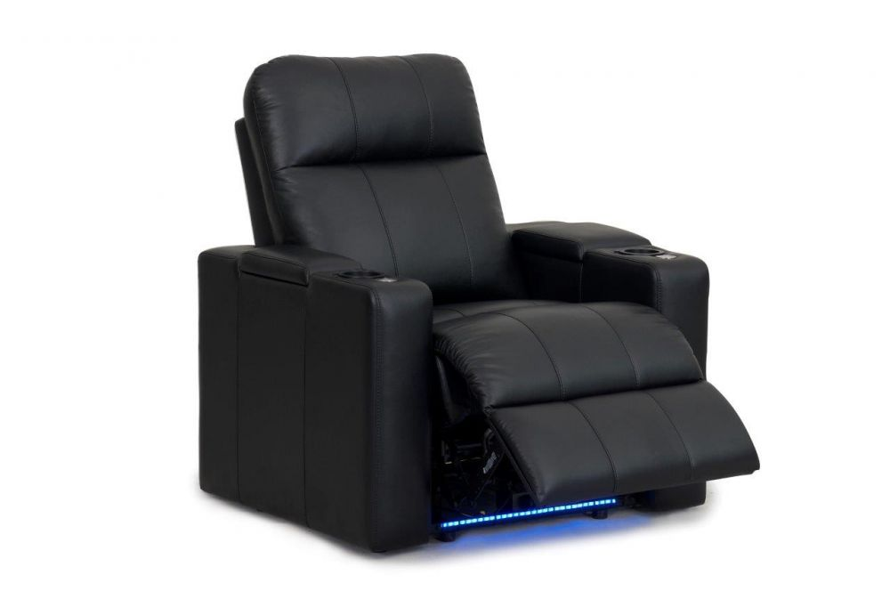 RowOne Home Theatre Seating Prestige Range Right Arm Wedge/Left Arm Straight Recliner 100% Leather